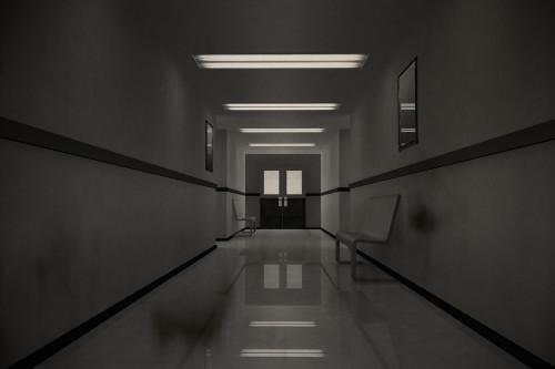 Tmavá chodba nemocnice/ilustrační foto