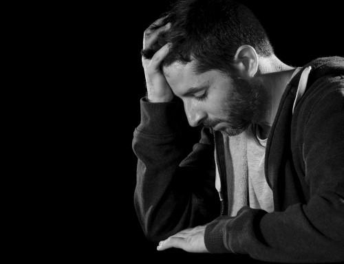 Deprimovaný muž/ilustrační foto