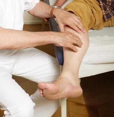 Vyšetření nohou/ilustrační foto