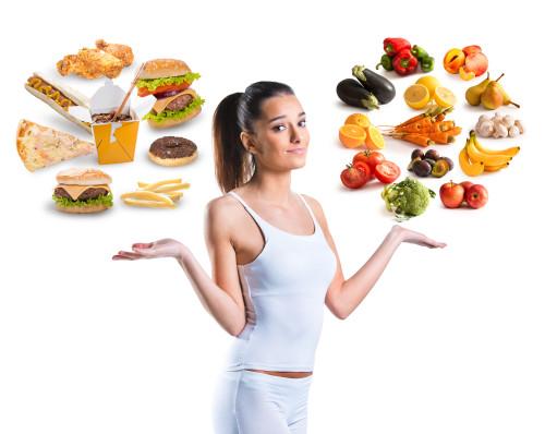 Zdravé vs nezdravé jídlo/ilustrační foto