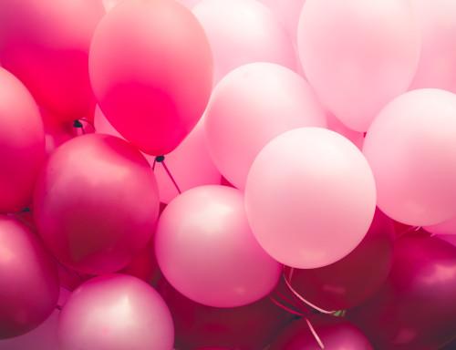 Růžové balónky/ilustrační foto