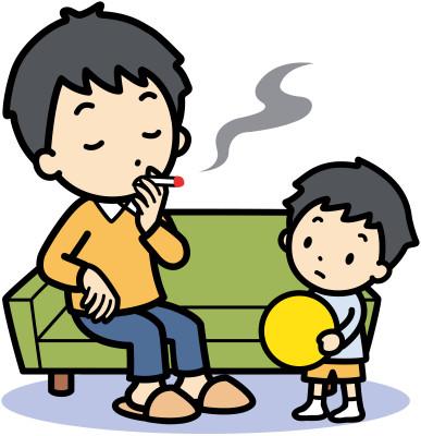 Kouření před dětmi/ilustrační obrázek